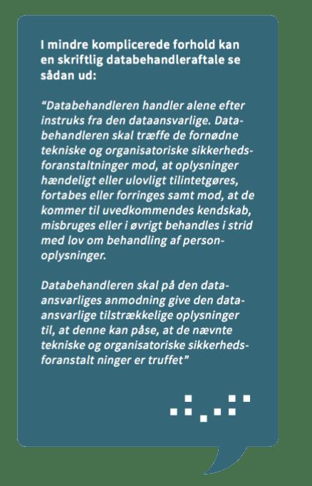 Eksempel på Databehandlingsaftale